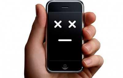 завис iphone
