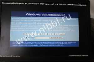 Вирус заблокировал windows заблокирован