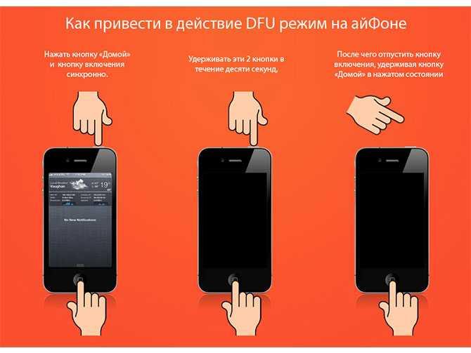 ввести iphone в dfu режим
