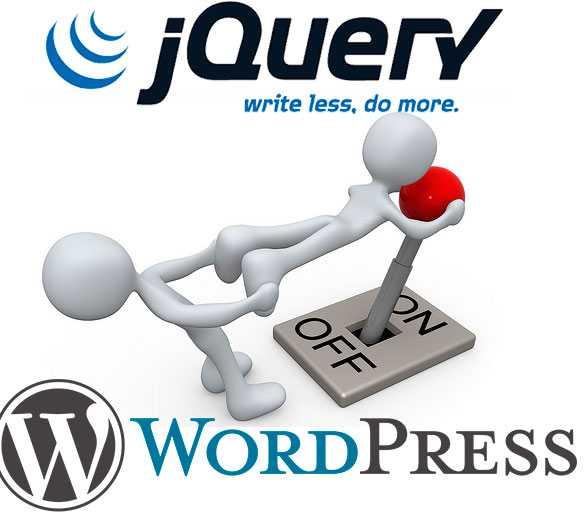 как в wordpress отключить jQuery