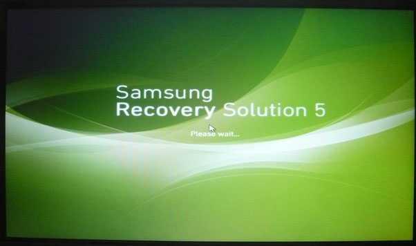 восстановить заводские настройки ноутбука Samsung
