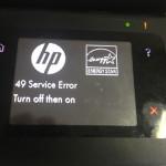 Ошибка hp 49 service error turn off then on