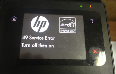 hp 49 service error turn off then on