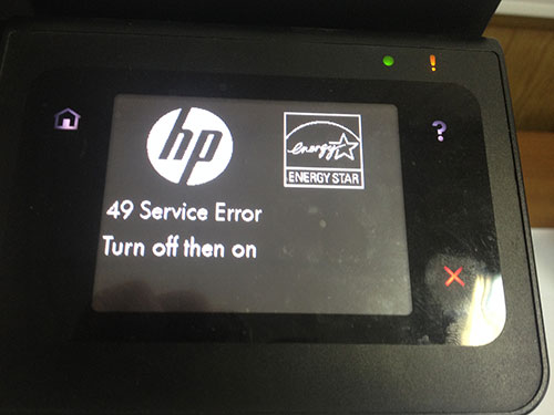 Ошибка hp 49 service error turn off then on