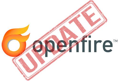обновление openfire сервера.