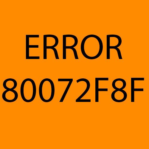 80072f8f ошибка