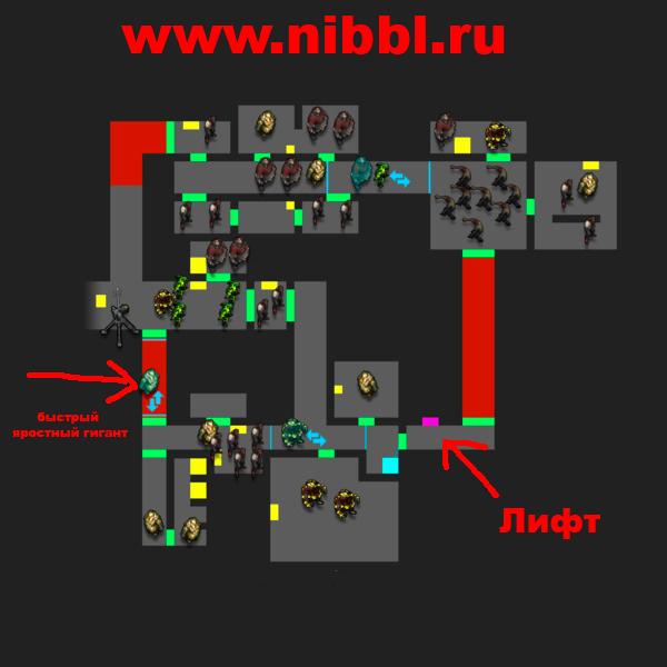 карта 2 этажа бункера альфа