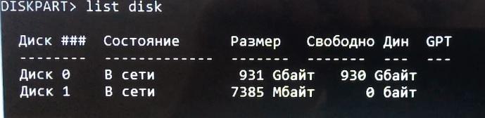 Конвертация MBR раздела диска в GPT при установки Windows 7 Pro