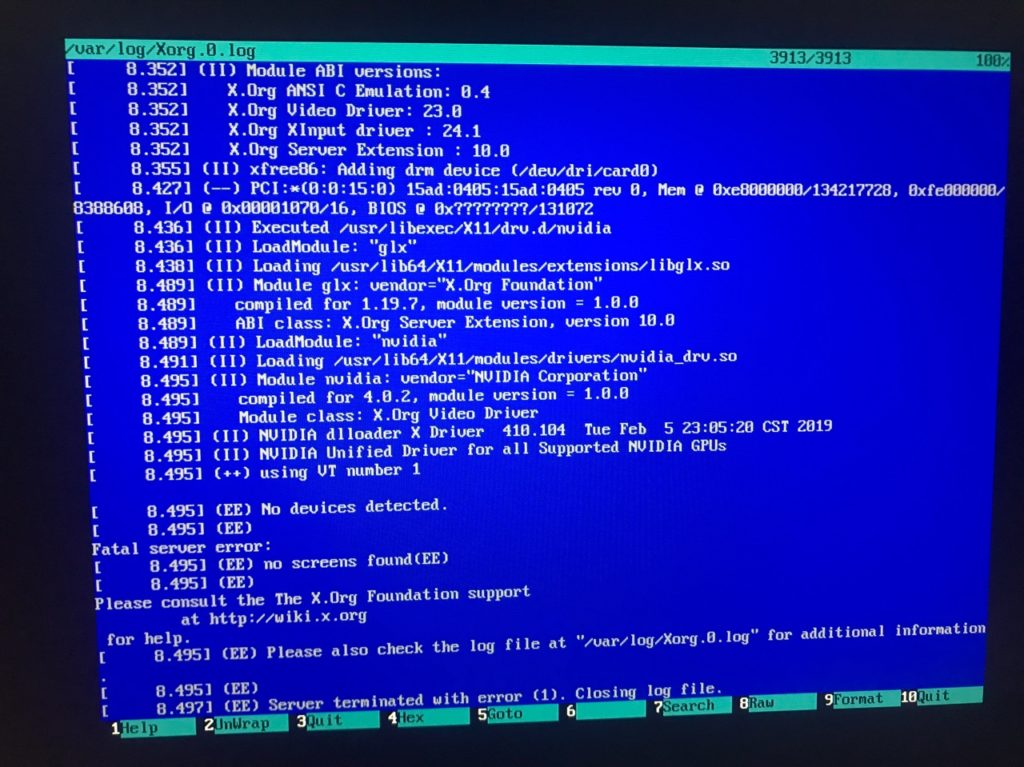 Ошибка: Decompressing linux parsing elf done booting the