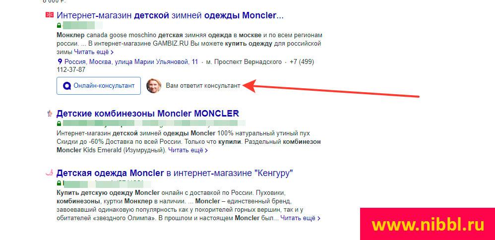 яндекс диалоги с Монклер и jivosite