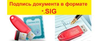 подписываем документы формата sig