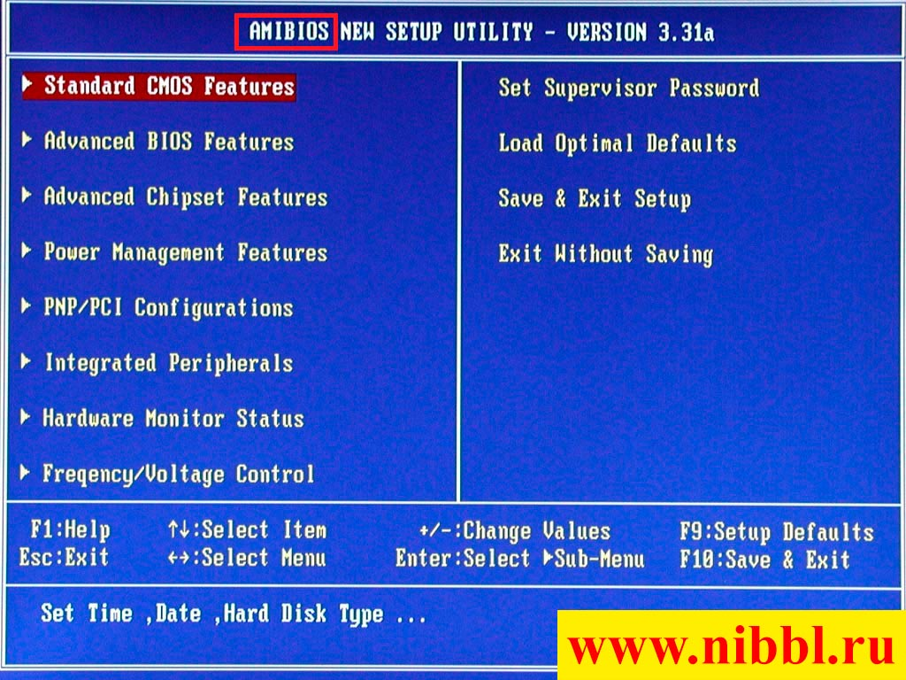 AMI BIOS 3 версия
