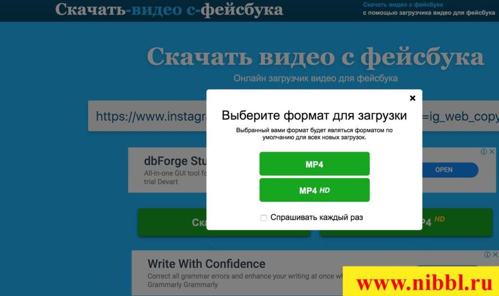 онлайн сервис для скачивания видео с инстаграмма