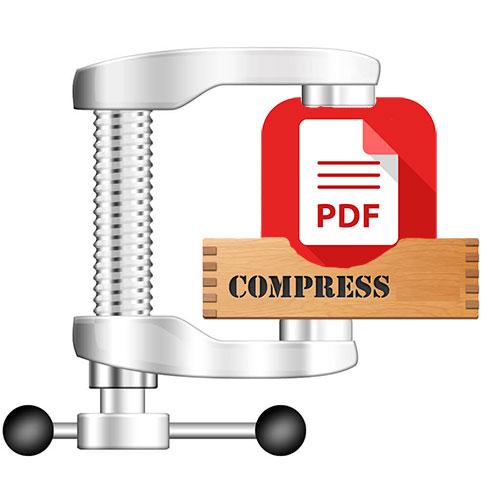 уменьшить размер pdf файла