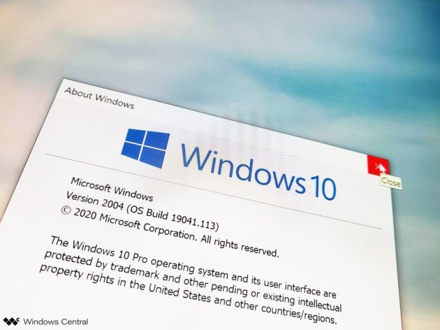 Windows 10 20H1 (версия 2004)