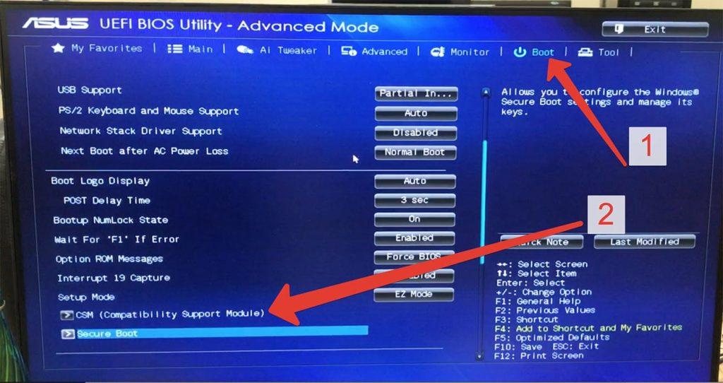 Ошибка - ERROR: Legacy boot of UEFI Media