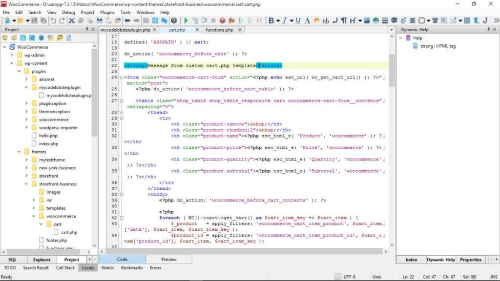 Быстрый старт в WooCommerce с CodeLobster PHP IDE