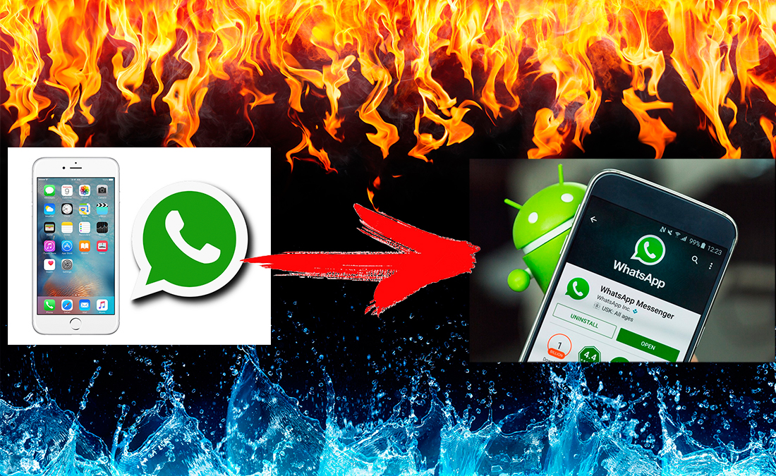 перенести Whatsapp c iPhone на Android