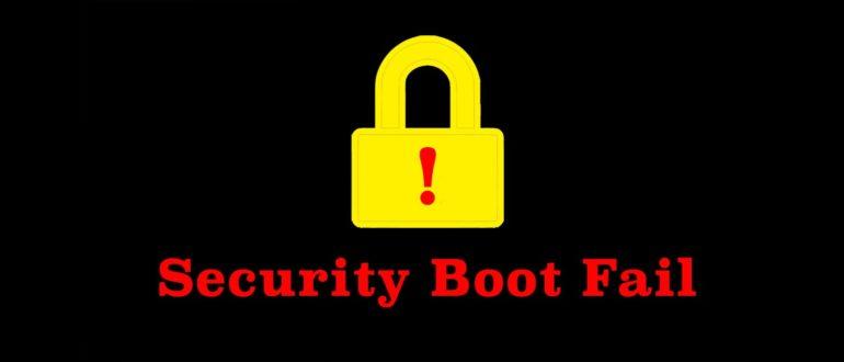 security boot fail при установке windows