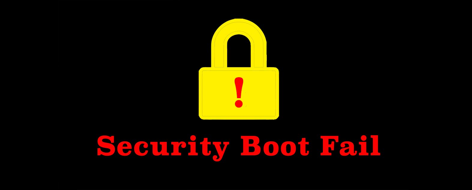 security boot fail при установке windows