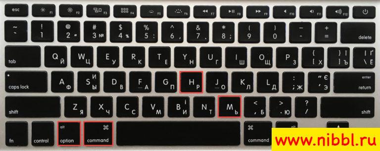 горячие клавиши мак свернуть окна