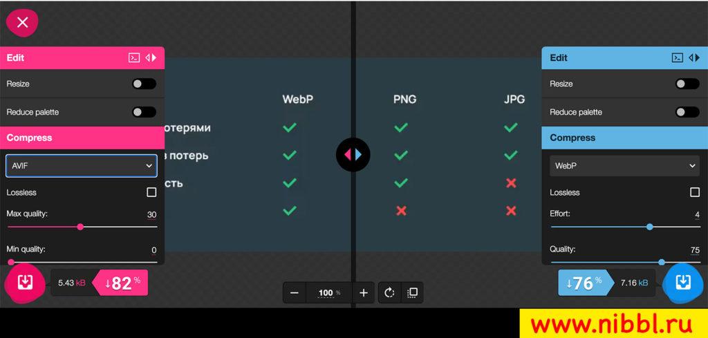 webp сравнение с jpeg