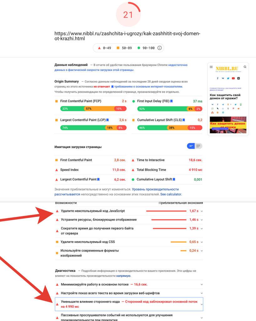 яндекс метрика тормозит сайты