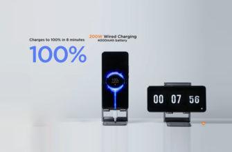 Новая технология зарядка мощностью 200 Вт от Xiaomi