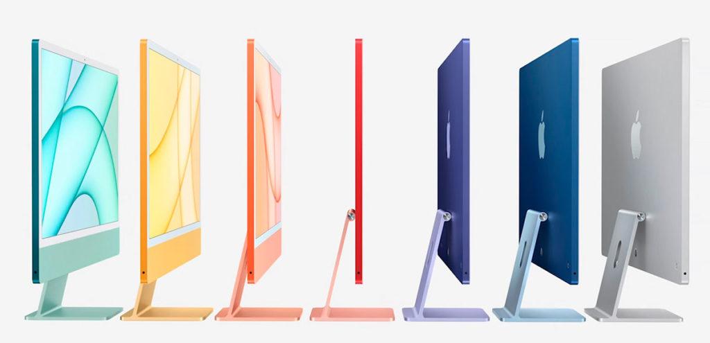 цветовая гамма iMac в 2021 году