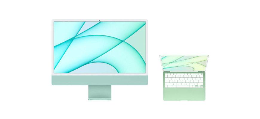 MacBook в цветовом стиле iMac