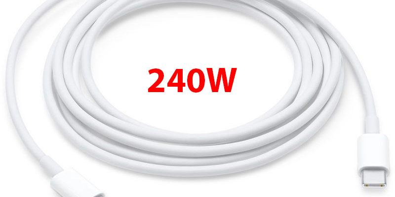 USB-C будет обеспечивать заряд до 240 Вт