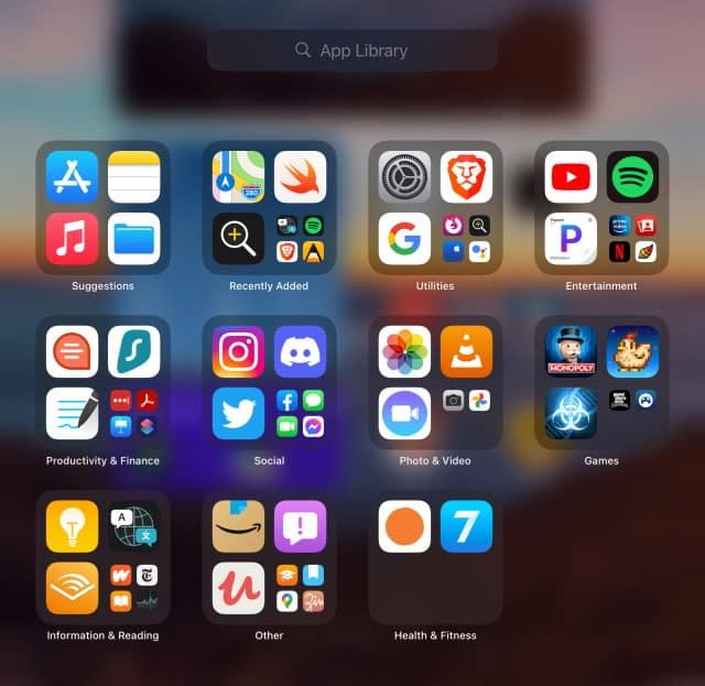 ipados15 App Library Comes to iPad