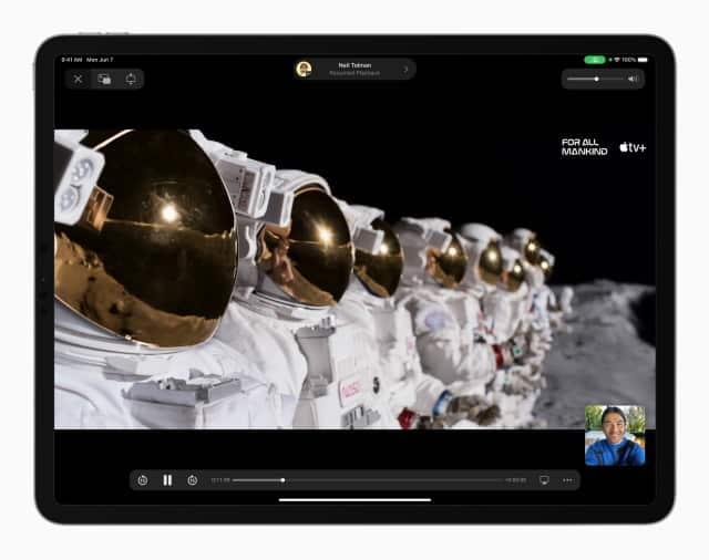 iPadOS 15 Улучшенный FaceTime