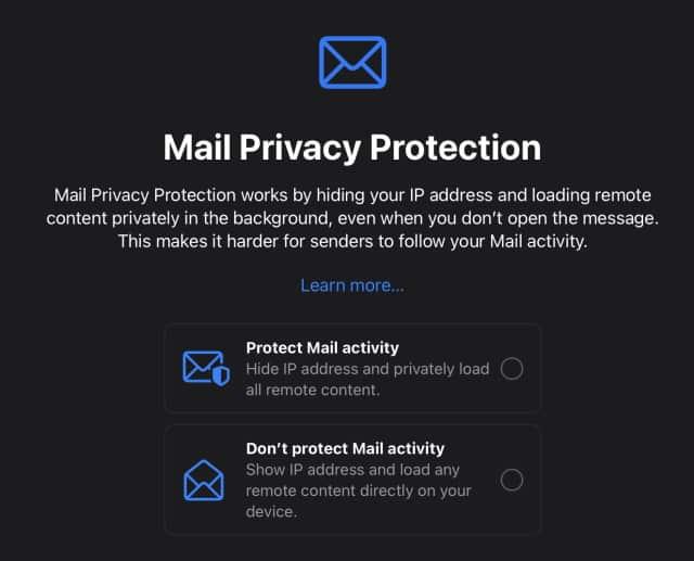 ipados15 Усиленная конфиденциальность почты