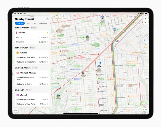 Apple Maps - функции ipados 15