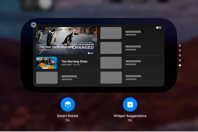 Новый интерфейс Smart Stack в iPadOS 15
